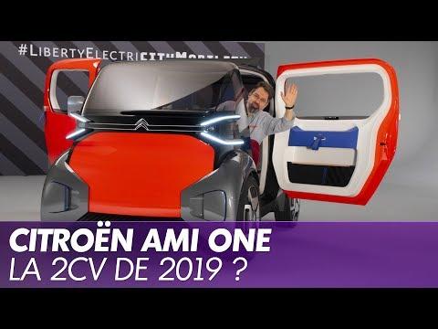 Aperçu d'une vidéo de l'article Citroën Ami One Concept : la mobilité urbaine électrique revisitée