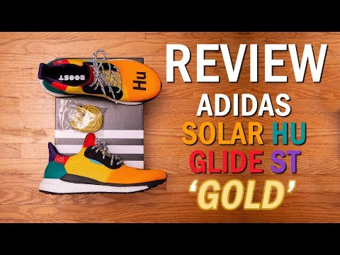 A NEW Human Race Model || adidas Solar HU Glide ST 'Gold' by Pharrell Williams Review and On Feet