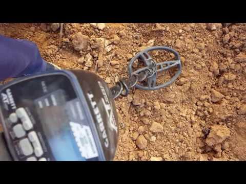 Buscando  con detector de metales garret at pro
