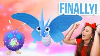Venonat  - (Pokémon) - SHINY VENONAT REACTION & VENOMOTH EVOLUTION | Pokémon Let's Go
