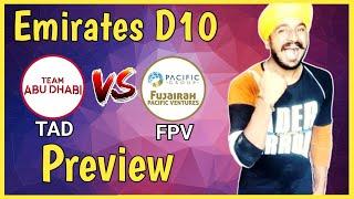 TAD vs FPV | Emirates D10 League 2020 | ICC Academy Dubai Pitch Report | Dream11 | Prediction