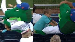 Florida Gators Mascot SAVES Boy from Softball | What's Trending Now!