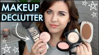 HUGE MAKEUP DECLUTTER! // BLUSHES, BRONZERS AND HIGHLIGHTS