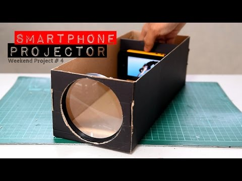 Easy Steps to Build A Smartphone Projector With A Shoebox