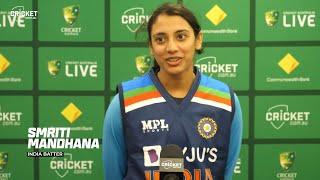 Mandhana all smiles after historic Test ton | Australia v India 2021