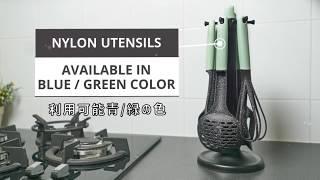 Idealife IL-173 Kitchen Utensils Spatula Sodet Tools Stainless Steel - Peralatan Masak Dapur isi 6 pcs