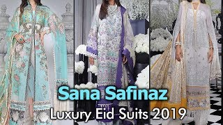 New SANA SAFINAZ LUXURY EID Chiffon Suits 2019 | Embroidered Chiffon Dresses In Pakistan