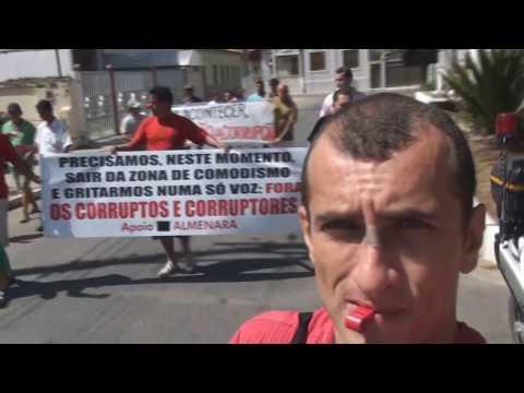 1ª Marcha contra Corrupção em Almenara 21 de abril 2012