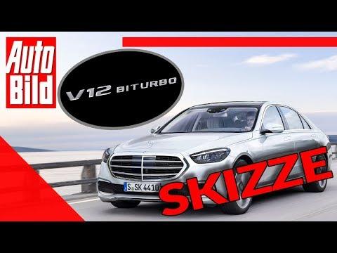 Mercedes S-Klasse (2020): Neuvorstellung - Skizze - Motor - V12