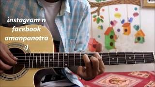 1 SIMPLE PATTERN - Play 10 Amazing Bollywood songs - Mashup simple guitar cover lesson