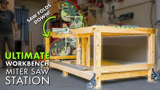 Garage WORKBENCH / MITER SAW Station / OUTFEED Table Combo Build Part 1
