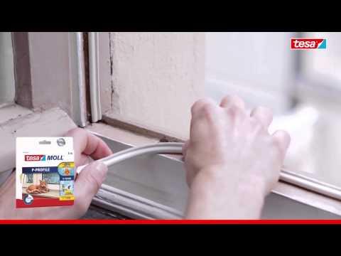 tesamoll Gummidichtung für Fenster und Türen, weiß, CLASSIC, P-Profil