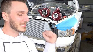 THE WORLDS ONLY Dual S400 WCFAB Compound Turbo Kit Install!