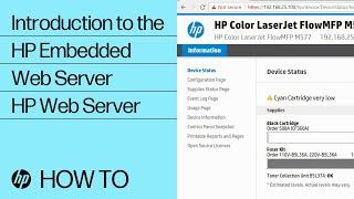 Einführung in den HP Embedded Web Server | HP Webserver | HP