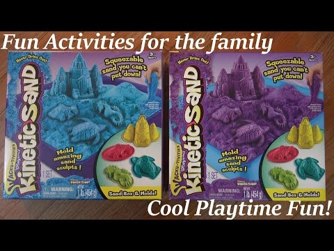 Fun Activity for Kids: Kinetic Sand by Wacky Activities Unboxing and Playtime
