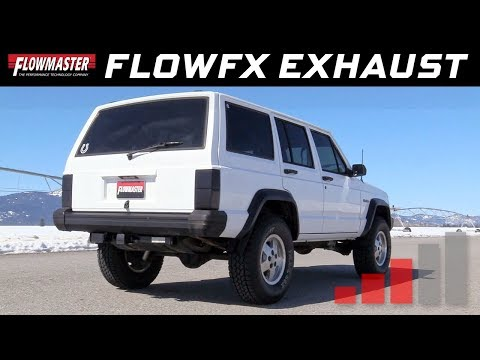 1986-01 Jeep Cherokee XJ 2.5L, 4.0L - FlowFX Cat-back Exhaust System 717892