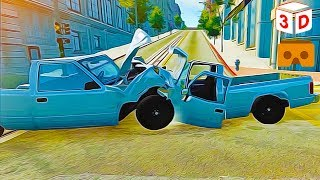 3D Car Crash Compilation 05 W/BeamNG.Drive VR Virtual Reality Vídeo Google Cardboard VR Box
