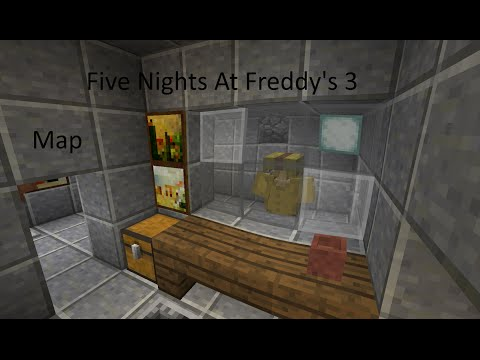 Five Nights At Freddy's 3 Full Map Minecraft Project