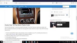 Buick Radio Code Generator To Unlock Any Stereo Device