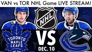 Canucks vs Maple Leafs NHL Game Live Stream! (Hockey VAN/TOR Reaction & Rumor Talk 2019)