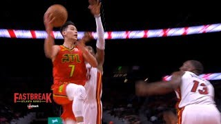 Jeremy Lin Highlights - Heat at Hawks 1/6/19