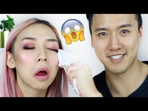 My Boyfriend Takes My Makeup Off - Alfred Tries It