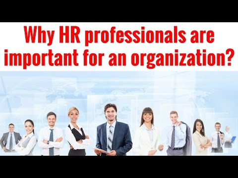 Why HR professionals are important for an organization?