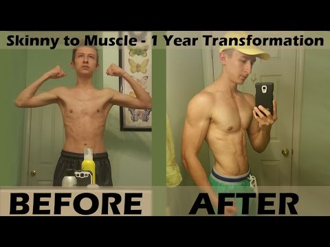 Skinny to Muscle – 1 year transformation