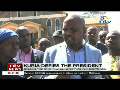 MP Moses Kuria defies the President on 2022 campaigns