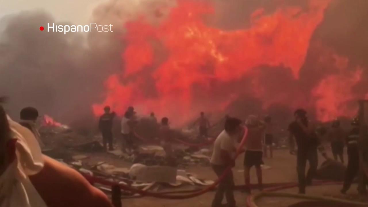 Autoridades declaran alerta roja en Chile por incendios