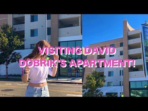 VISITING DAVID DOBRIK'S APARTMENT!! || los angeles vlog!