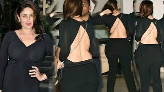 Kareena Kapoor BACKLESS Dress at Freddy Daruwala Birthday Party