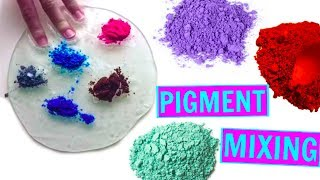 MIXING ALL MY PIGMENTS INTO CLEAR SLIME! Satisfying Slime ASMR Video Compilation!