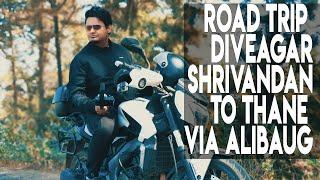 Budget road trip to shrivandhan and alibaug To Thane how to reach diveagar,cinematic,moto vlog,drone