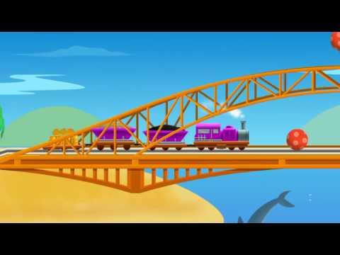 Поезда. Игра перевозим грузы серия 2 для детей