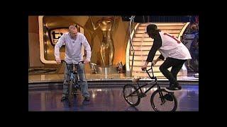 Stefan zeigt seine BMX-Tricks - TV total