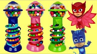 GUMBALL BANK Candy Dispenser with PJ MASKS