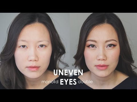 Makeup For Uneven Eyes | Monolid & Double Eyelid Tutorial