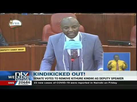 Senate votes to remove Prof. Kithure Kindiki as deputy speaker