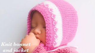 Knit Baby Bonnet Cap For Newborn Baby How To Knit Easy Baby Bonnet Or Cap #9