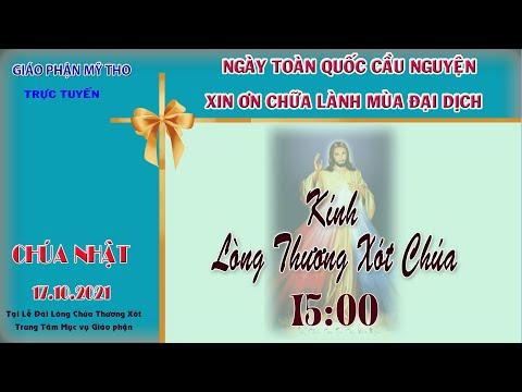15g00 CN 17/10 : làm việc Kính Lòng Chúa Thương Xót   tại lễ đài LTX Trung Tâm Mục Vụ