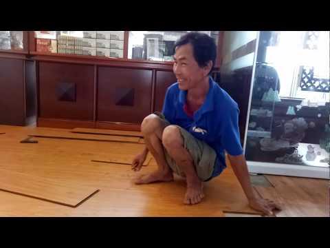 Cách thợ Việt Nam lắp sàn gỗ công nghiệp quá đỉnh!