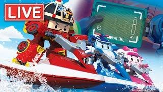 LIVE 🔴 Robocar Poli Season 3,4   Kids animation