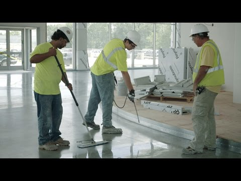How to densify polished concrete