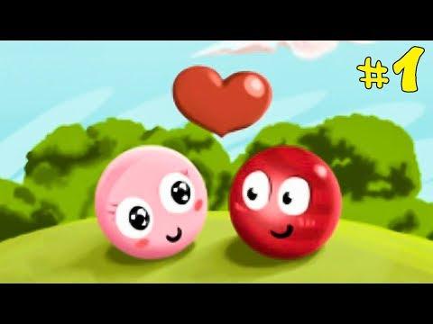 Несносный КРАСНЫЙ ШАРИК спасает любимую #1. Мультик ИГРА Red Ball 3 на Игрули TV видео
