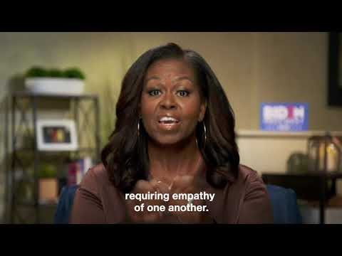 """Former First Lady Michelle Obama Says Vote For Biden """"Like Our Lives Depend On It"""""""