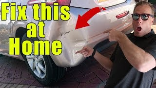 How to pop a dent in a plastic bumper at home. NOT HOT WATER!
