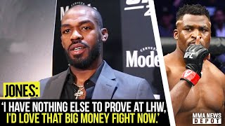 Jon Jones agrees to face Francis Ngannou next; Gaethje responds to Conor; Khabib's father update
