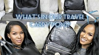 What's In Our Carry On Travel Bags? + Tips/Ideas