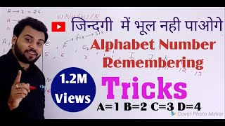 Alphabet & Number Remembering Trick and opposite Alphabets Letters amazing short trick ||